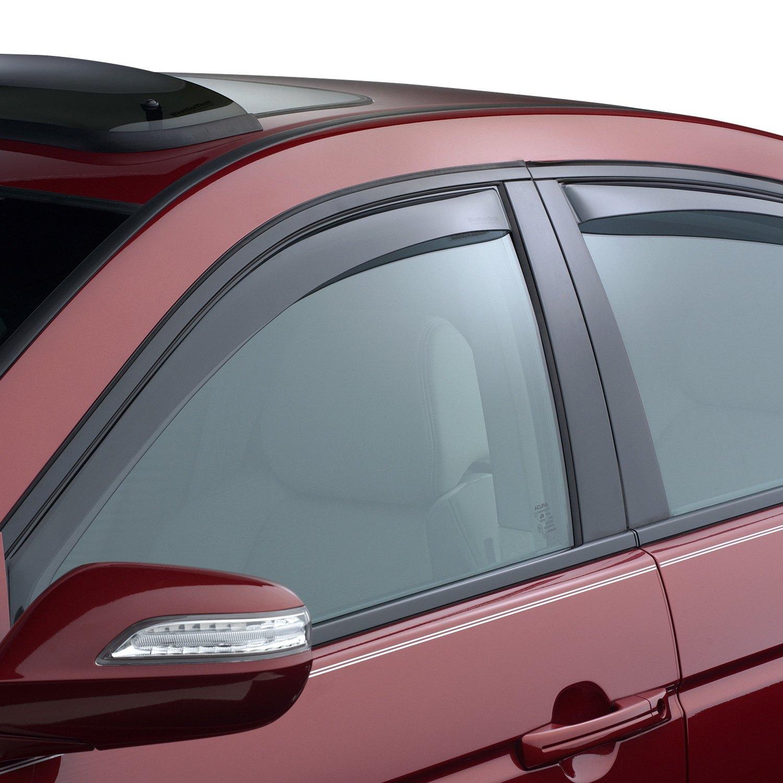 WeatherTech® - In-Channel Light Smoke Front and Rear Side Window Deflectors