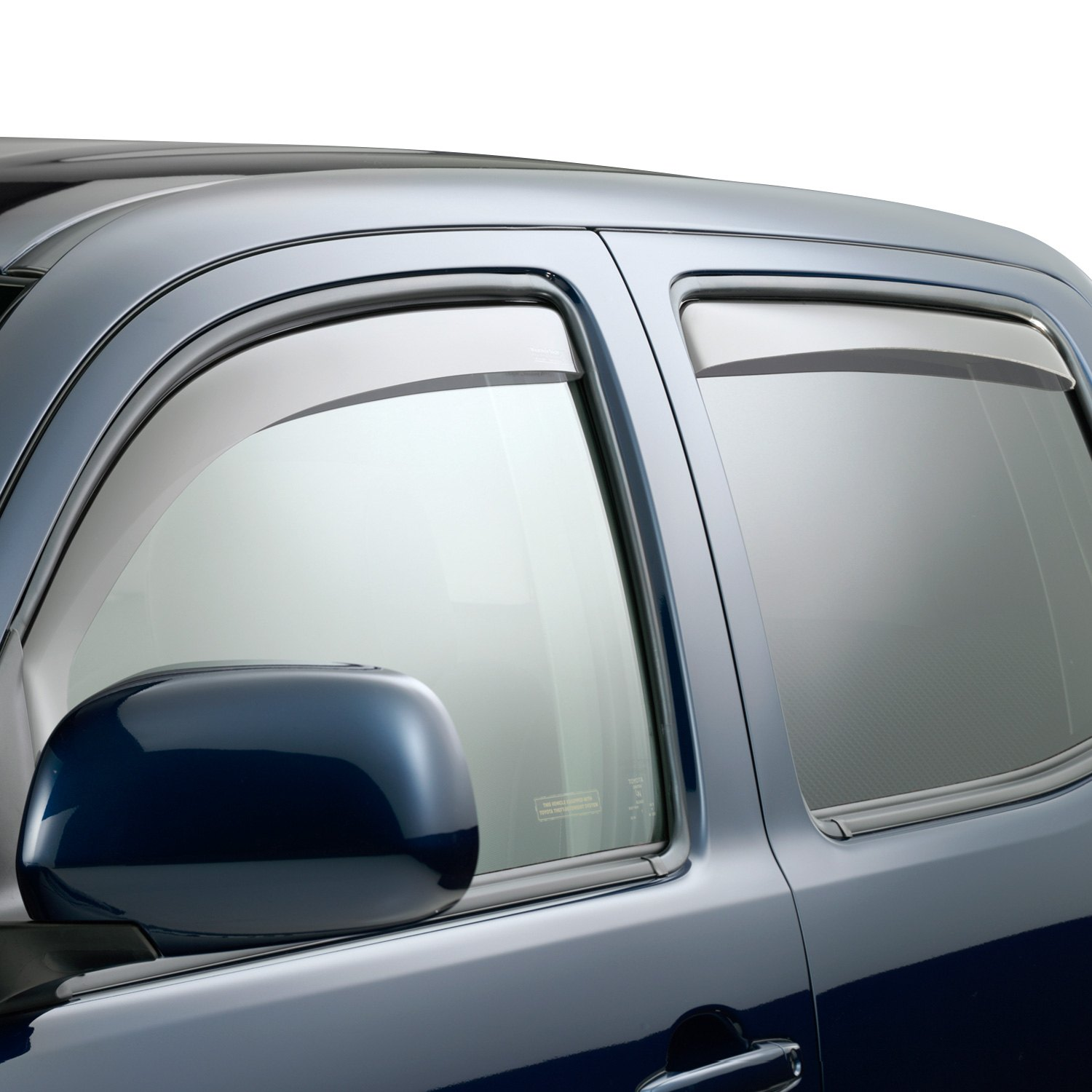 Weathertech toyota tacoma 2015 in channel side window for Window guards
