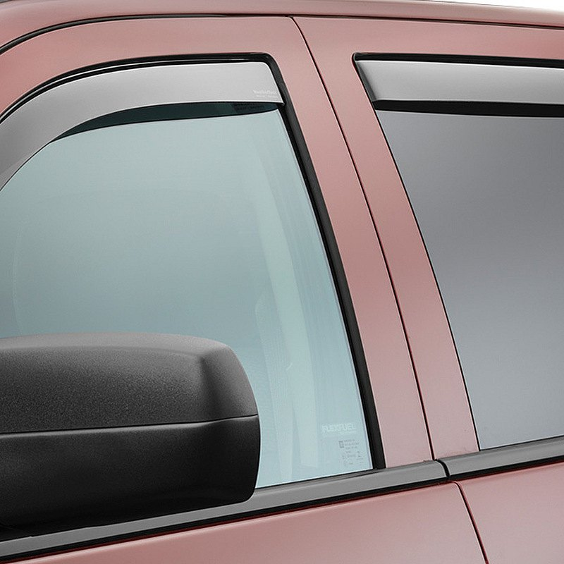 Weathertech chevy silverado 2017 in channel side window for Window guards
