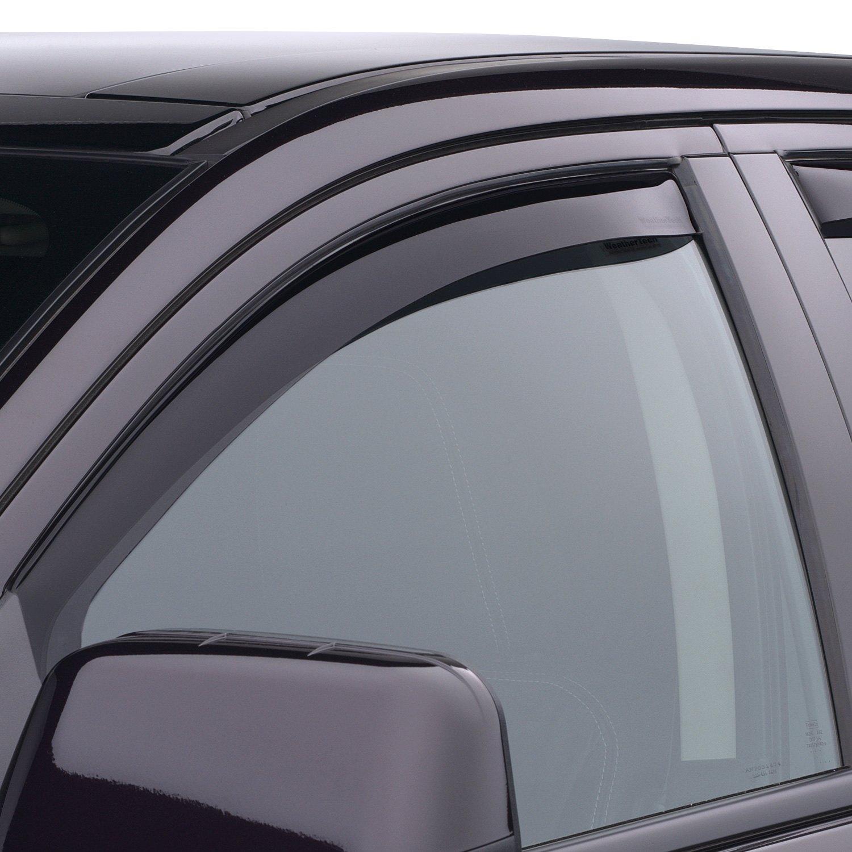 Weathertech 80430 in channel dark smoke front side for All side windows