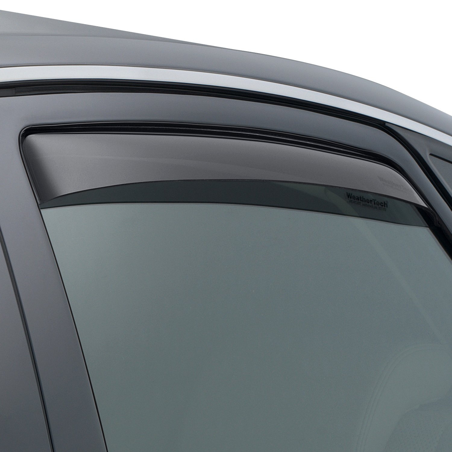 Weathertech 81375 in channel dark smoke rear side for Window guards
