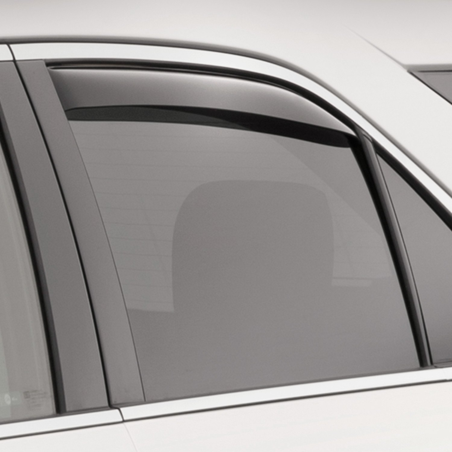 Weathertech chevy equinox 2017 in channel side window for Window guards