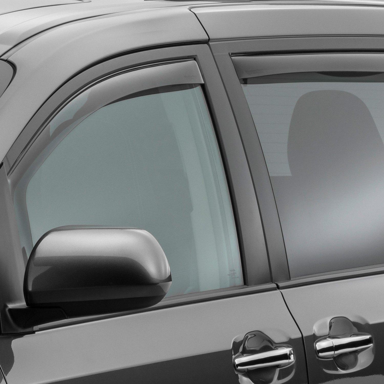 WeatherTech Custom Fit Rear Side Window Deflectors for Toyota Sienna Light Smoke