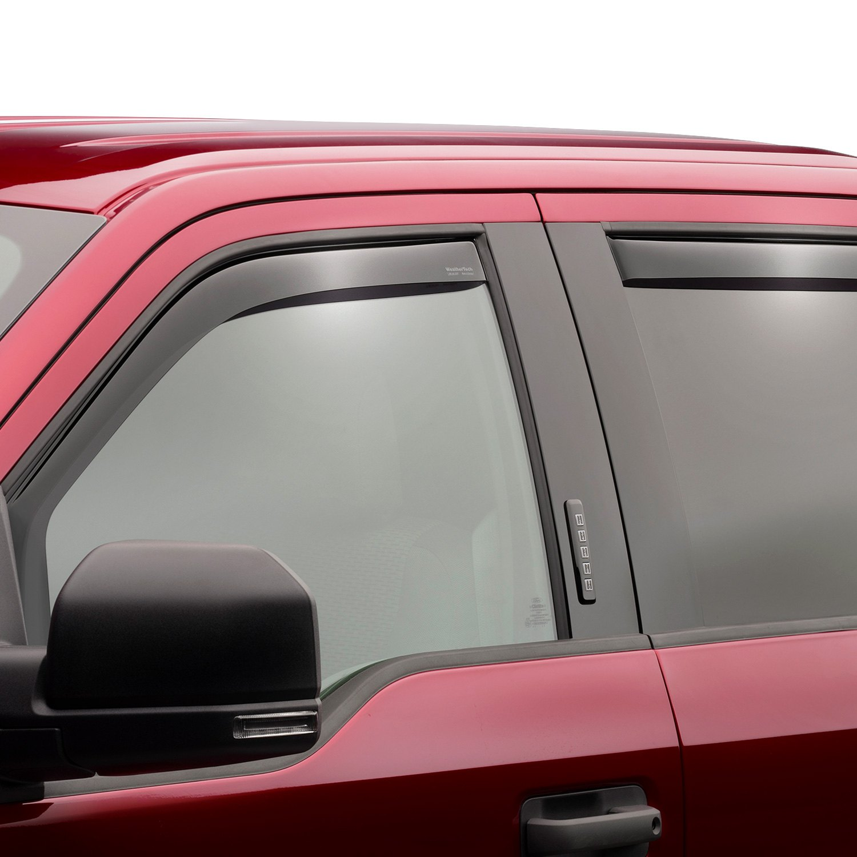 Weathertech Side Window Deflectors >> WeatherTech® - Ford F-150 2015 In-Channel Side Window Deflectors