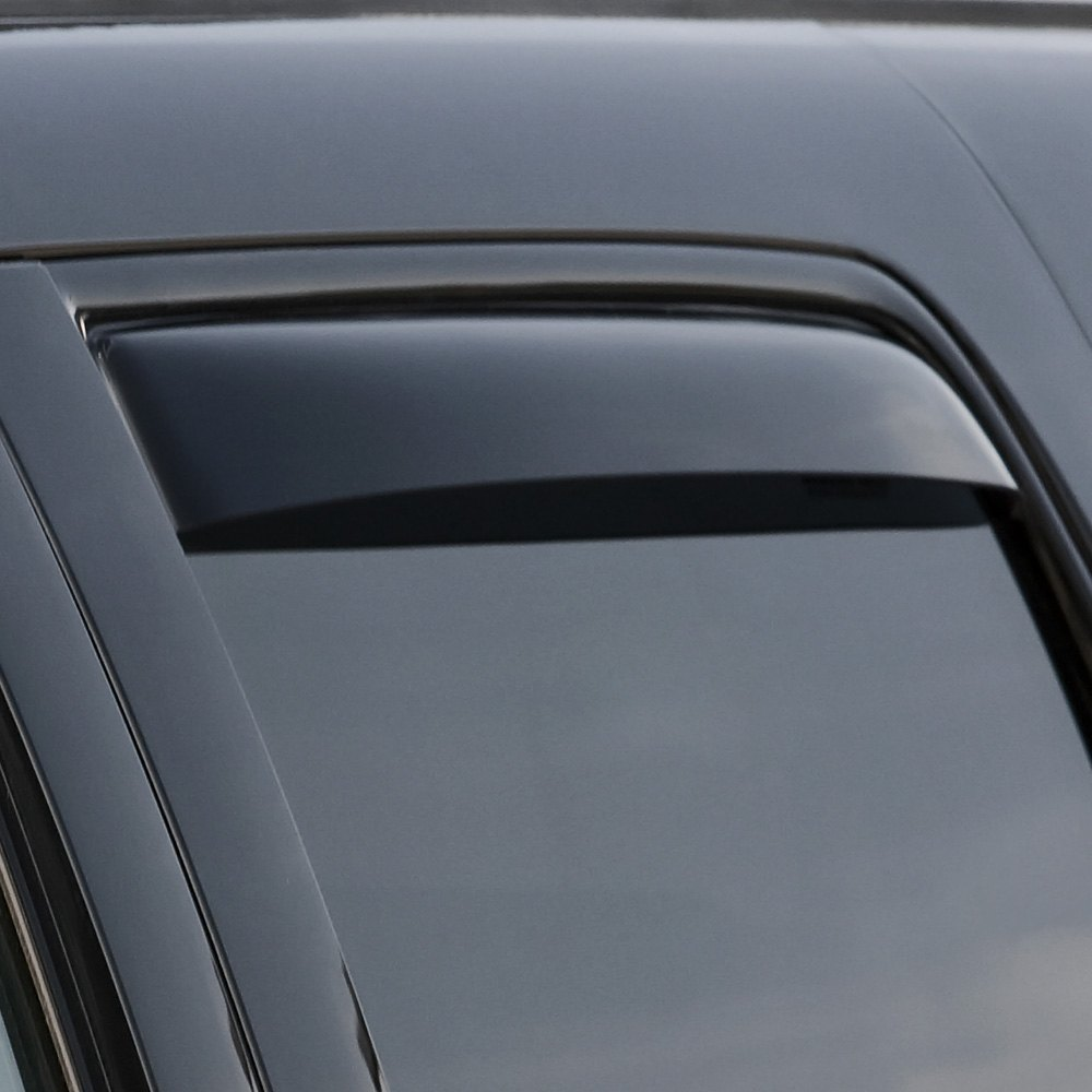 Dark Smoke WeatherTech Custom Fit Front /& Rear Side Window Deflectors for Cadillac Escalade
