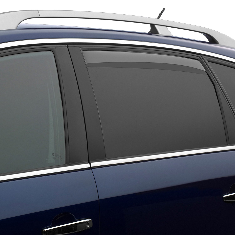 Weathertech Side Window Deflectors >> WeatherTech® - Nissan Rogue 2015 In-Channel Side Window Deflectors
