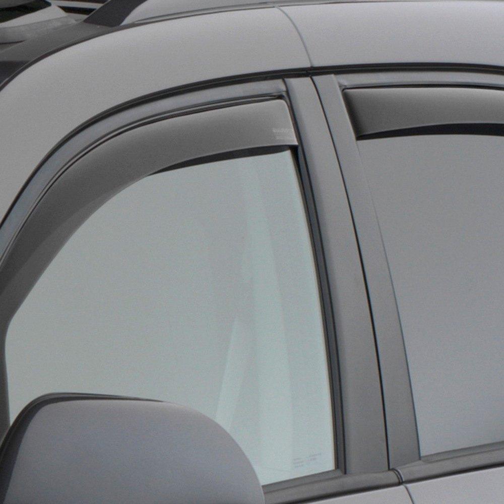 Weathertech Side Window Deflectors >> Weathertech 82750 In Channel Dark Smoke Front And Rear Side Window Deflectors