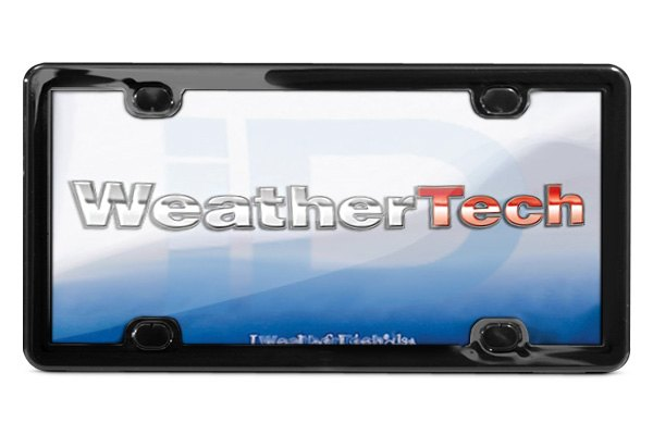 Weathertech 174 60020 Black Clearcover 174 License Plate Frame