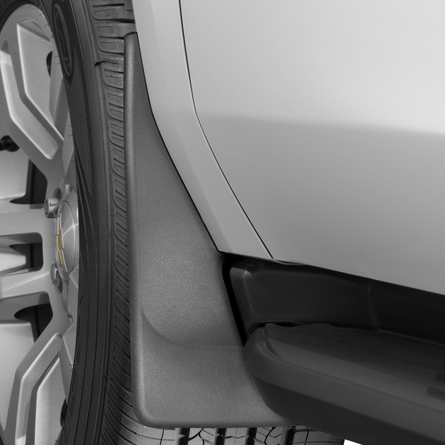 Black WeatherTech No-Drill MudFlaps for Chevy Tahoe//GMC Yukon Front//Rear Set