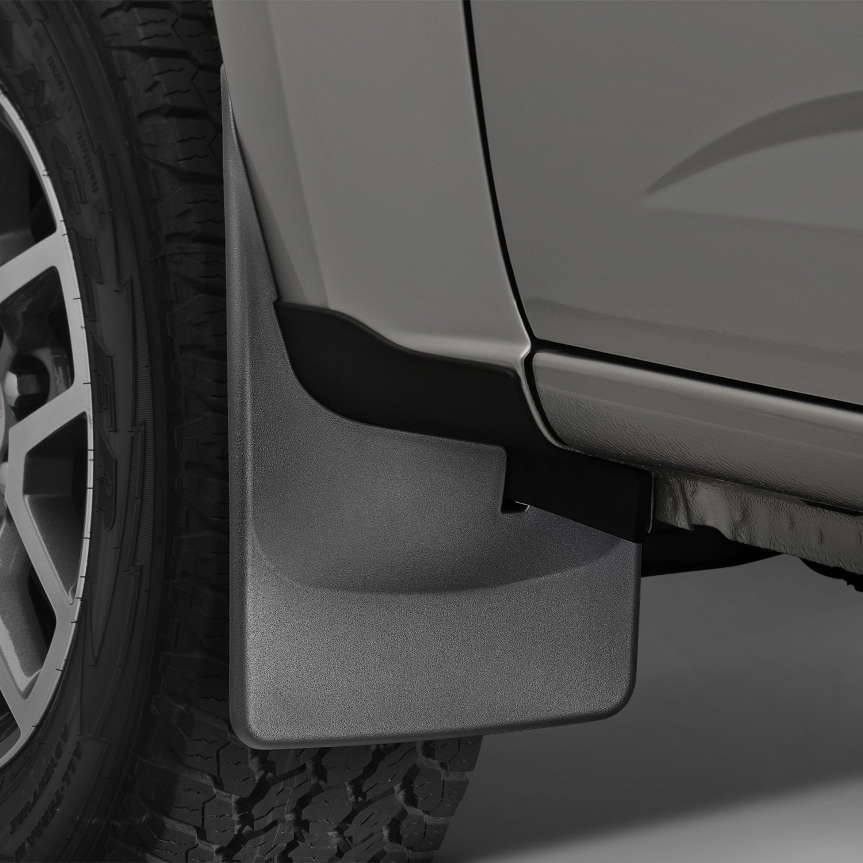 Semi Mud Flaps >> WeatherTech® - Chevy Colorado 2015 DigitalFit™ Black Mud Flaps
