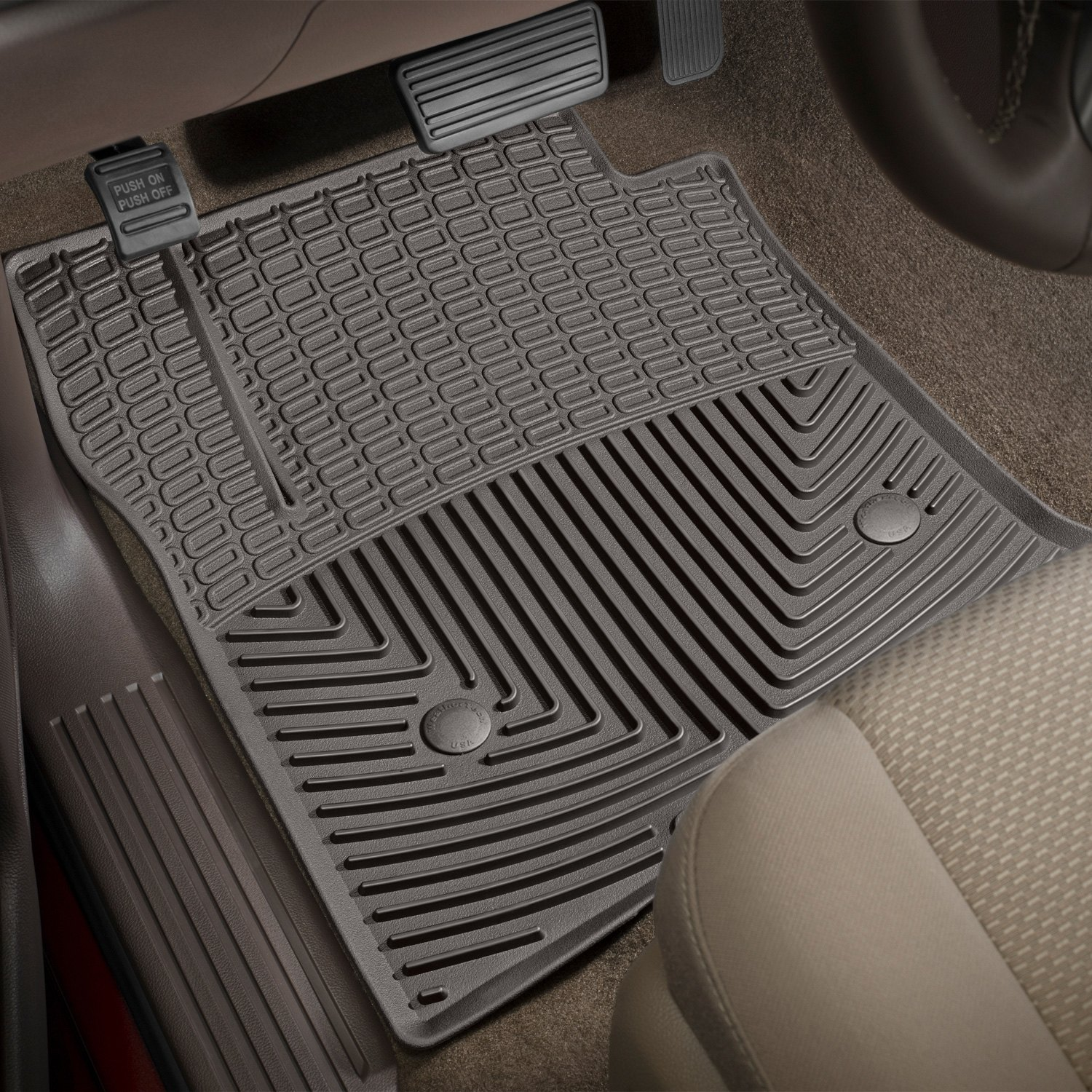 Weathertech w309co all weather 1st row cocoa floor mats weathertech all weather floor mats cocoa dailygadgetfo Image collections