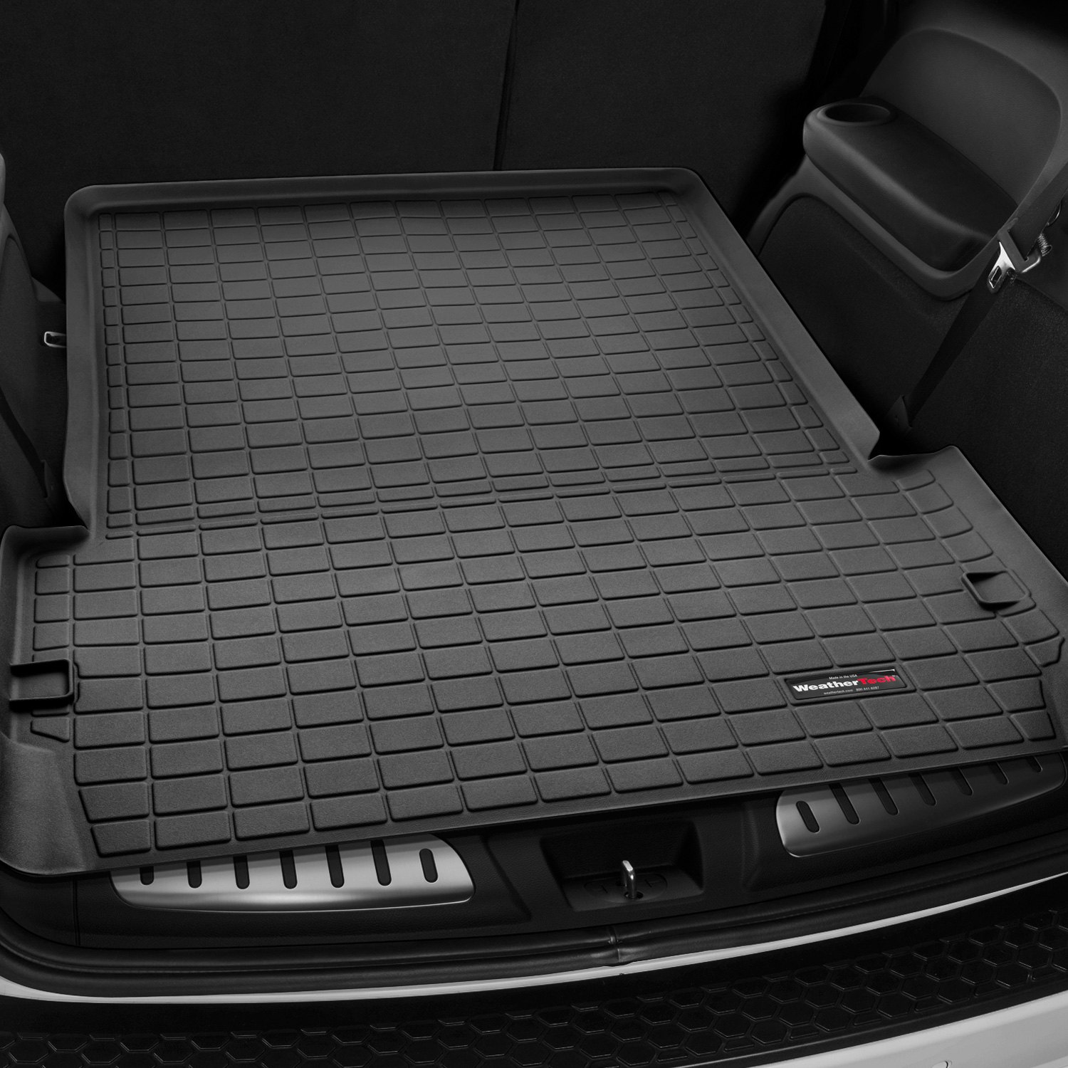 Weathertech 174 40493 Black Cargo Liner Behind 2nd Row