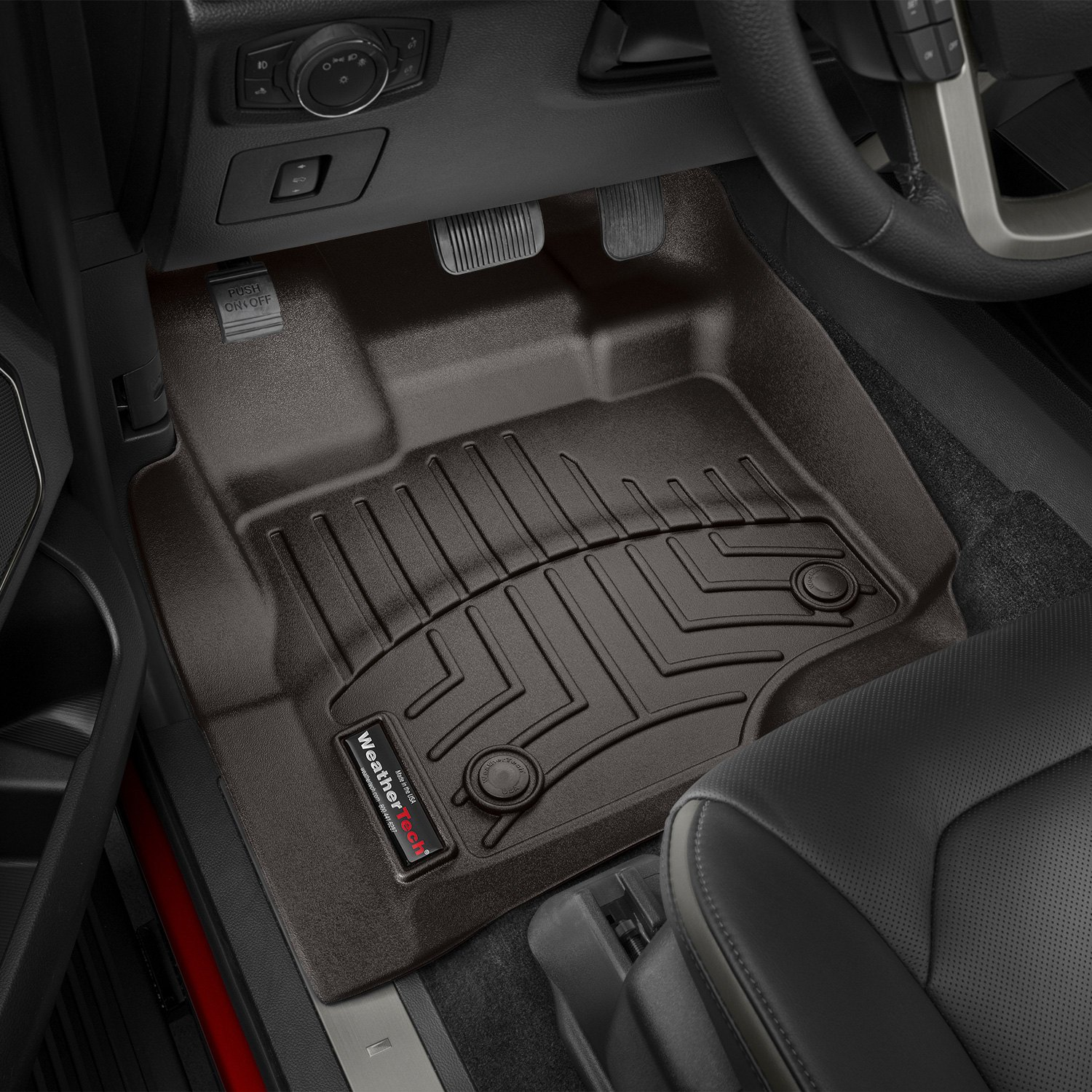 My Ford Benefits >> WeatherTech® 476971 - DigitalFit™ 1st Row Cocoa Molded Floor Liners
