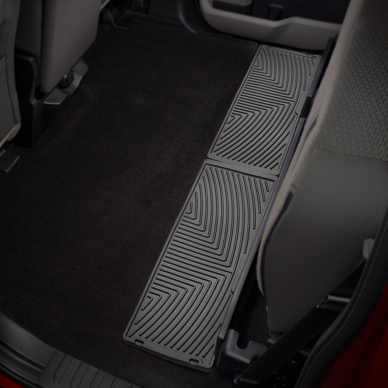 weathertech w356 all weather 2nd row under seat cargo area black floor mats. Black Bedroom Furniture Sets. Home Design Ideas