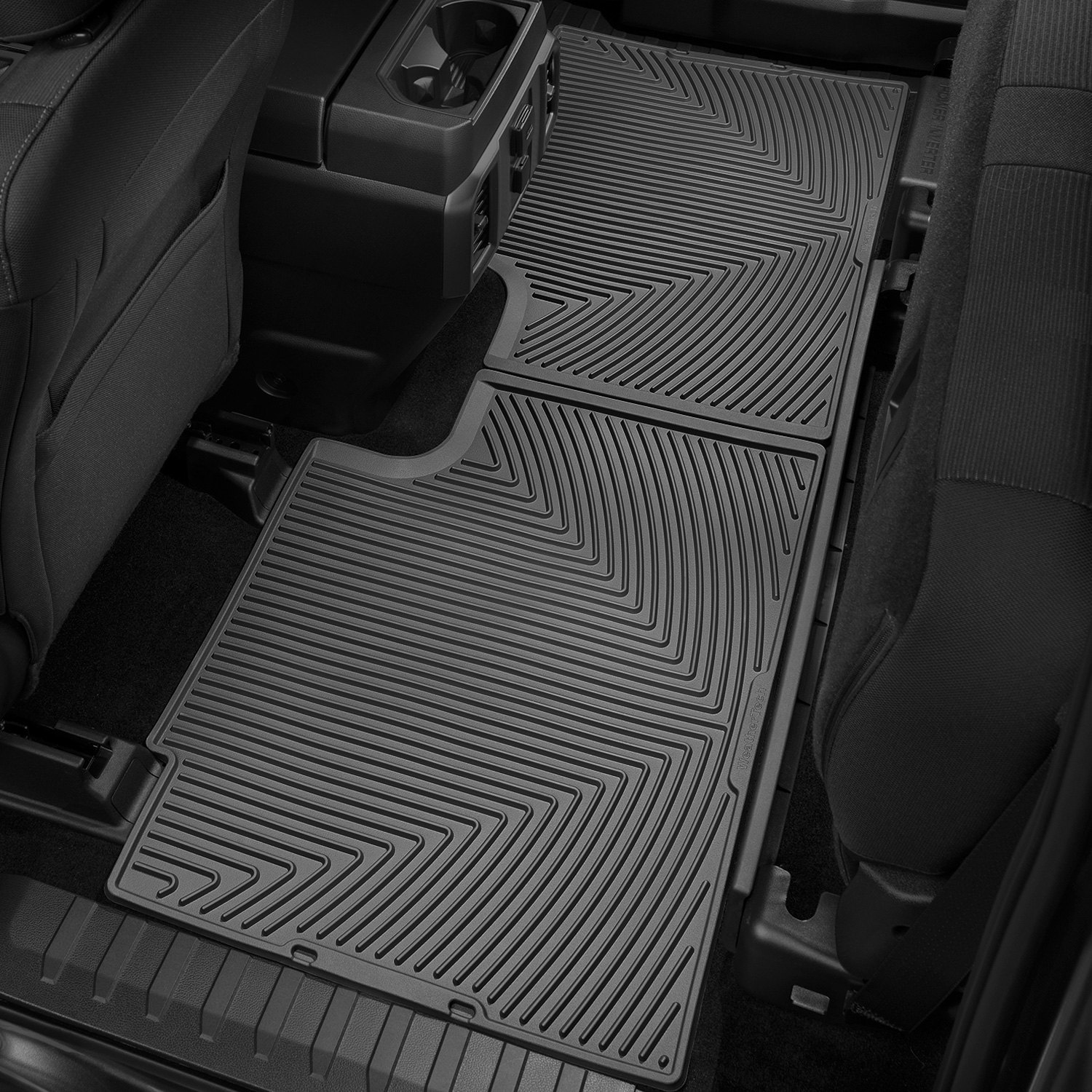 Weathertech 174 W358 All Weather 2nd Row Black Floor Mat