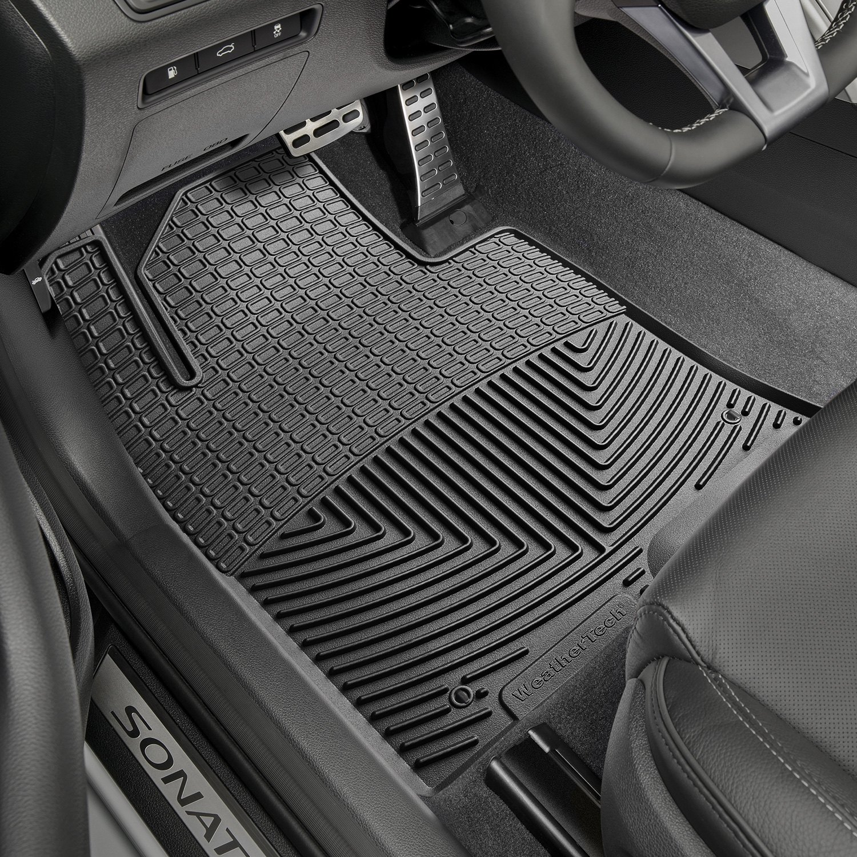 sonata hyundai black mats floor car