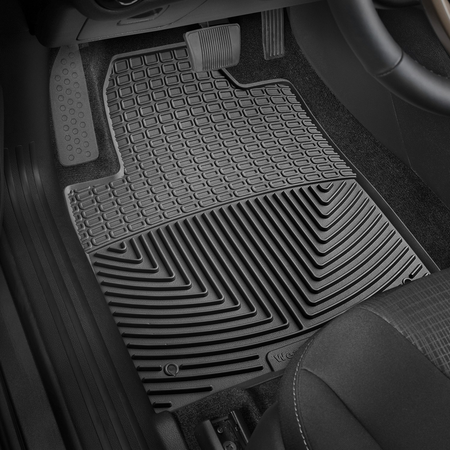 Weathertech 174 W383 All Weather 1st Row Black Floor Mats