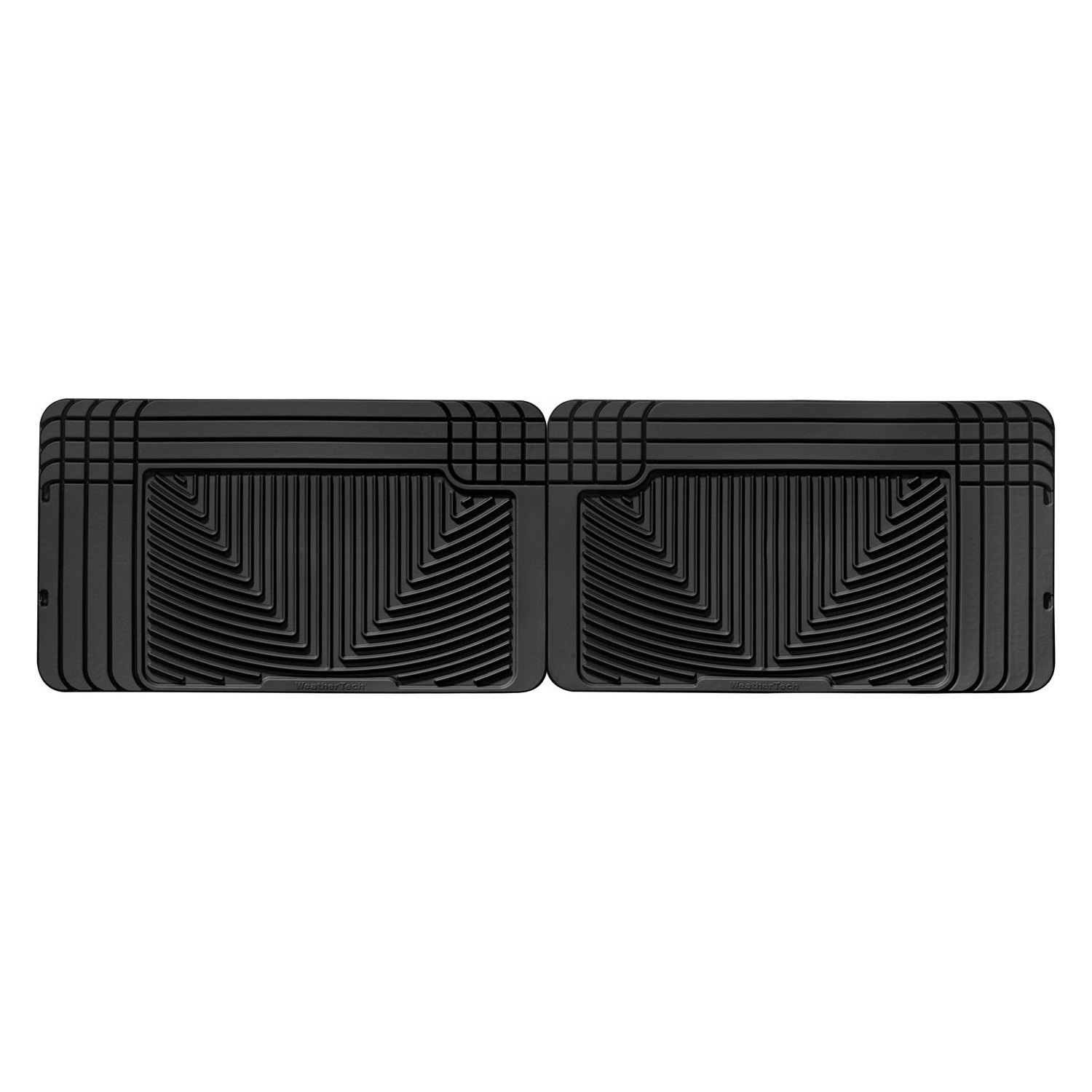 WeatherTech W25 All-Weather Trim-to-Fit Rear Rubber Mats Black