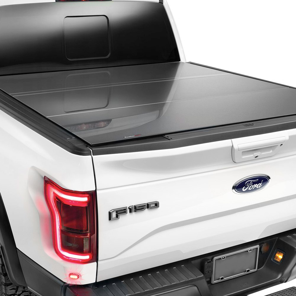 WeatherTech® - GMC Sierra Denali 2014-2017 AlloyCover™ Hard Tri-Fold Pickup Truck Bed Cover