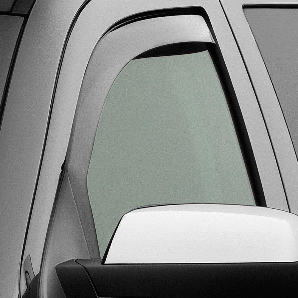 Chevy Silverado 2007-2013 Tinted Side Window Visors ... |White Silverado Window Deflectors