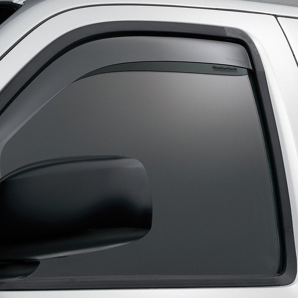 Ford 2016 f 150 side window deflectors weather tech for Window guards