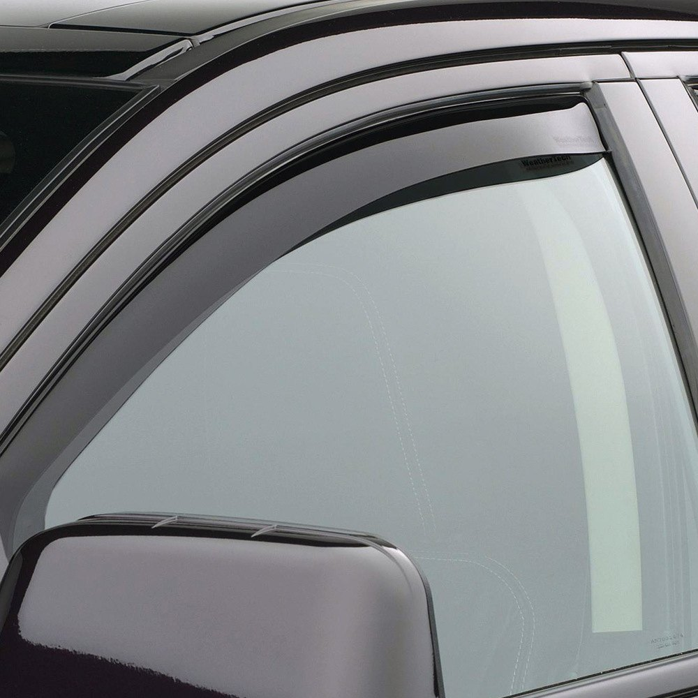 Weathertech ford edge 2007 2014 dark smoke side window for Window guards