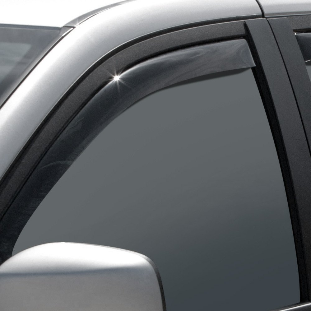 Weathertech 80476 dark smoke front side window deflectors for Window guards