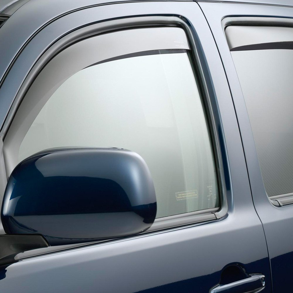 Weathertech 82389 toyota tacoma 2005 2015 dark smoke for Window guards
