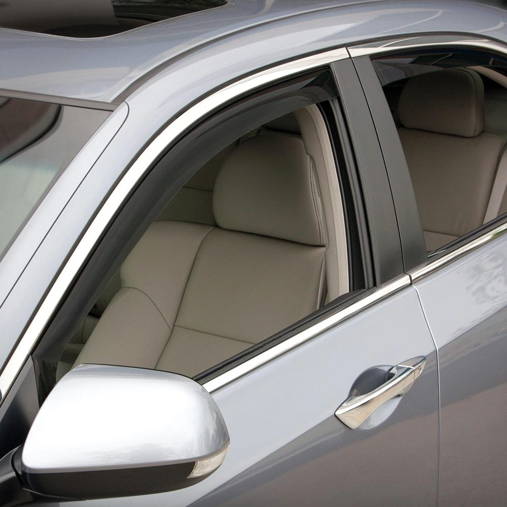 Weathertech 82505 dark smoke front and rear side window for Back door with side window