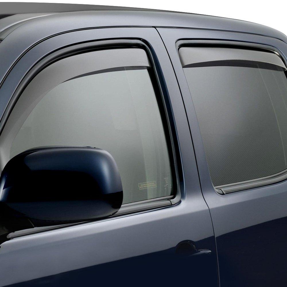Weathertech Side Window Deflectors >> Weathertech In Channel Side Window Deflectors