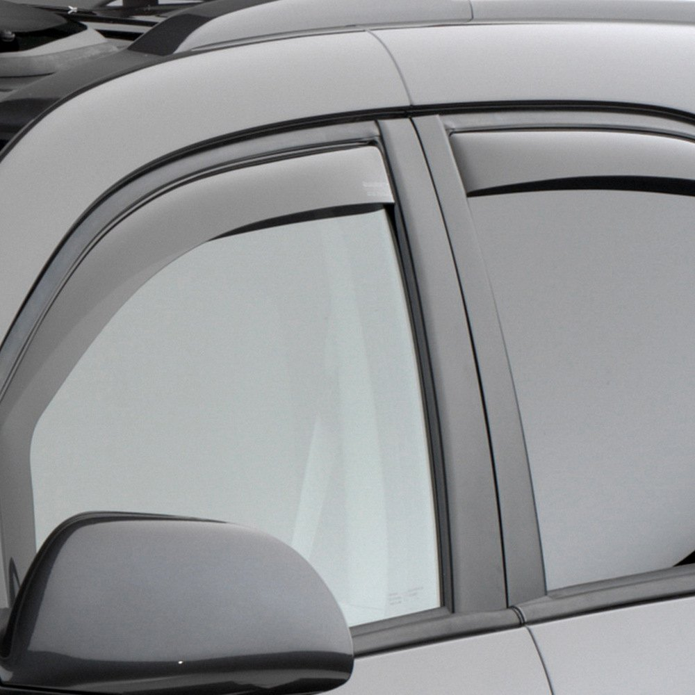 Weathertech ram 1500 2016 in channel side window deflectors for Window guards