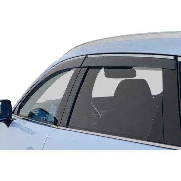 For MAZDA CX-9 17-19 Chrome Trim Window Visor Guard Vent Deflector Fit:New CX9