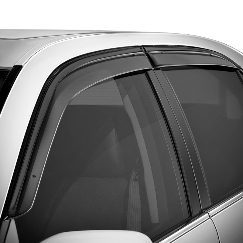 WellVisors Side Window Visors For Chevrolet Equinox 2018 Deflectors Black Trim