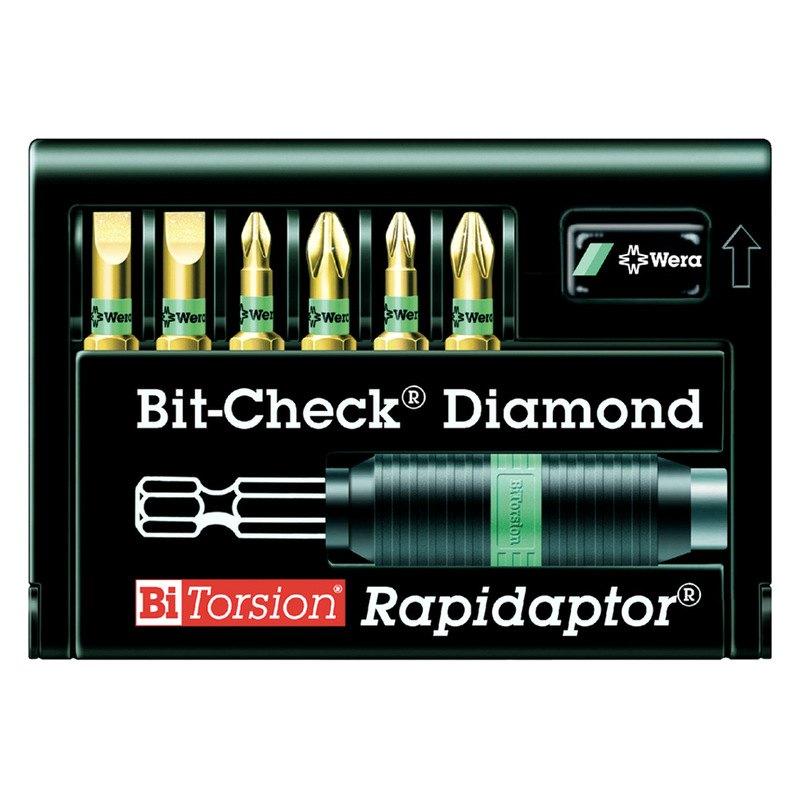 wera 5135956003 rapidaptor bit holder with 6 piece diamond bit set. Black Bedroom Furniture Sets. Home Design Ideas