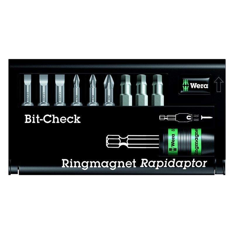 wera 5346291003 ringmagnet rapidaptor 9 piece bit set with bit holder. Black Bedroom Furniture Sets. Home Design Ideas