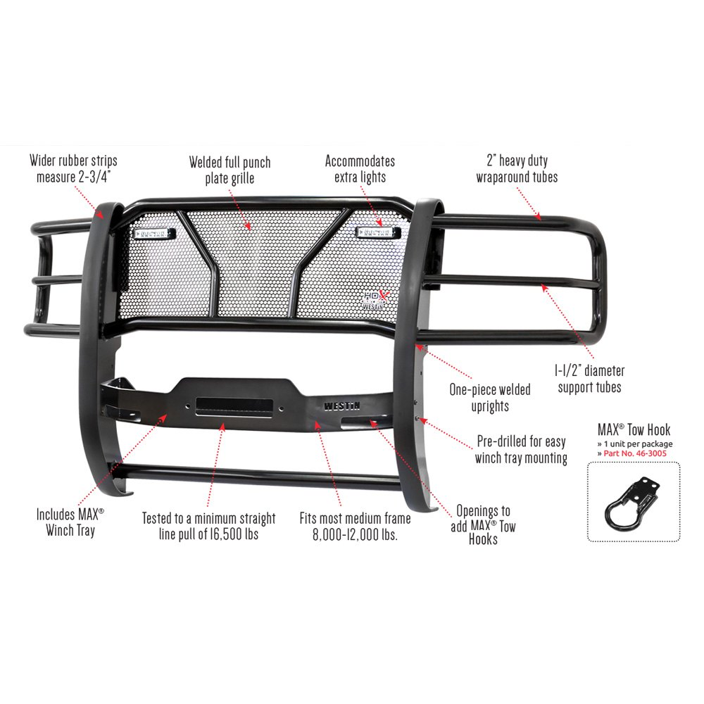 Westin® - HDX Winch Mount Grille Guard