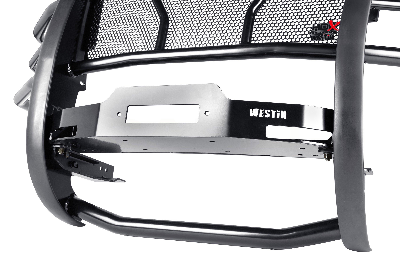Westin® 57-92505 - HDX Black Winch Mount Grille Guard