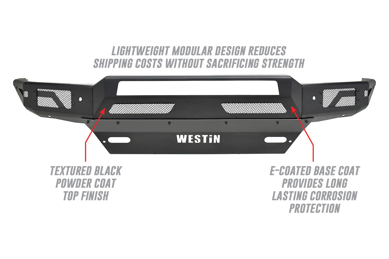 Westin® 58-41005 - Pro-Mod Full Width Black Front Modular Bumper