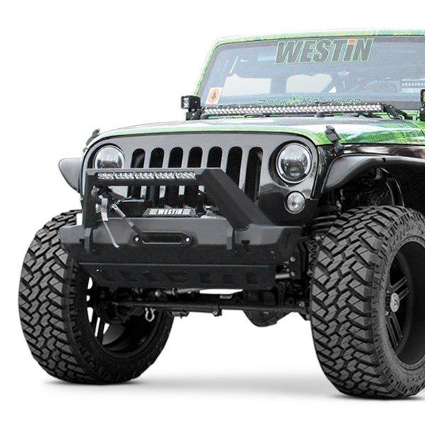 westin jeep wrangler 2012 wj2 stubby black front winch. Black Bedroom Furniture Sets. Home Design Ideas