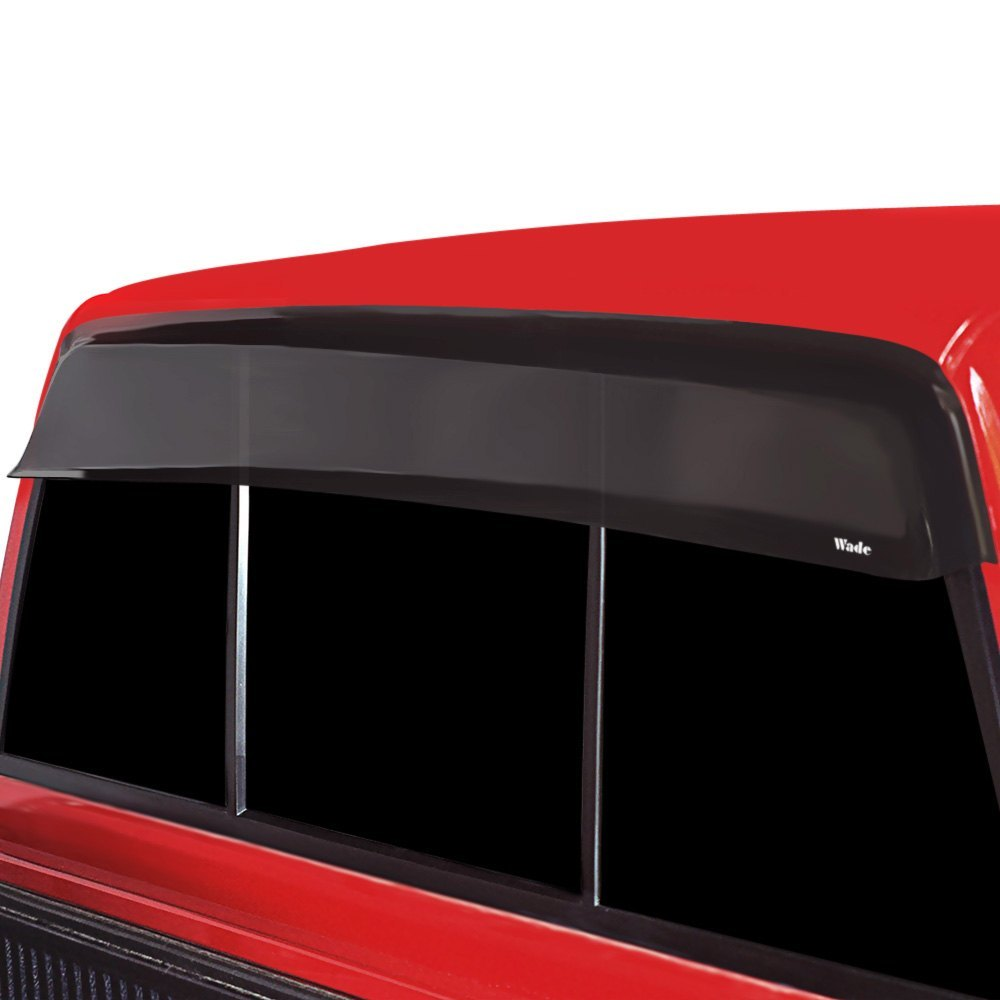 Westin 72 38104 tape on wade smoke rear cab guard wind deflector westin wade smoke cab guard wind deflector without light cutout aloadofball Choice Image