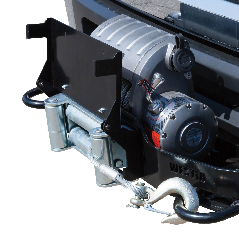 Westin® 46-20055 - Black Powder Coat MAX Winch Tray License Plate Relocator