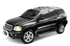 Westin® - Sportsman Polished Grille Guard With Lights On GMC Envoy