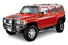 Westin® - E-Series Bull Bar With Lights On Hummer H3