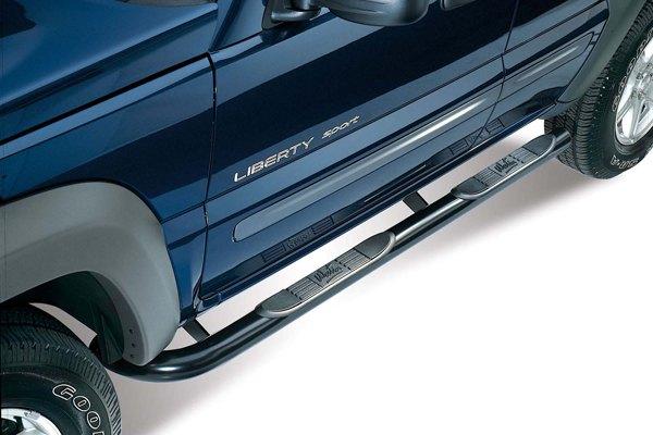 02 04 jeep liberty nerf side bars 3 034 round truck suv running boards westin ebay. Black Bedroom Furniture Sets. Home Design Ideas