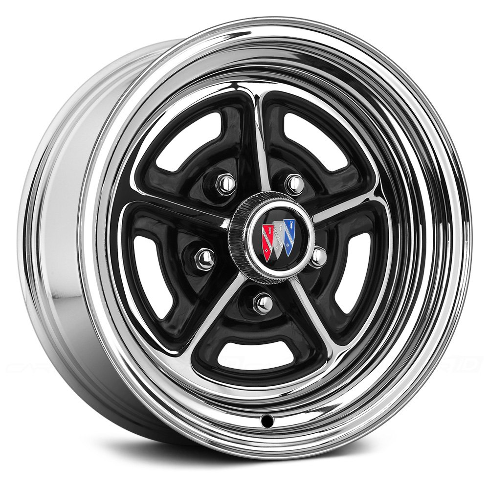 Wheel vintiques buick rally chrome with semi gloss black windows