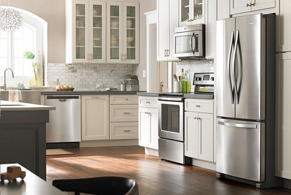 over the range silver microwave with hidden