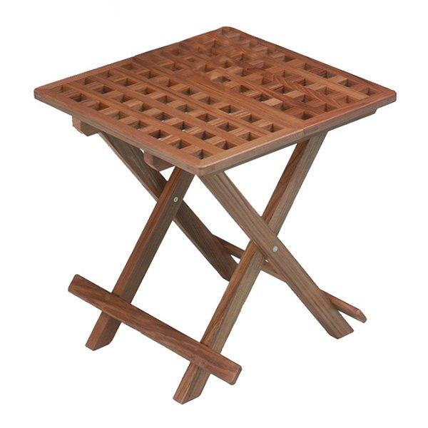 Grate Teak Coffee Table: Teak Grate Top Fold-Away Table
