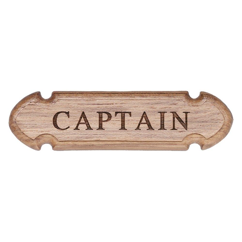 Whitecap® 62670 - Teak Captain Name Plate