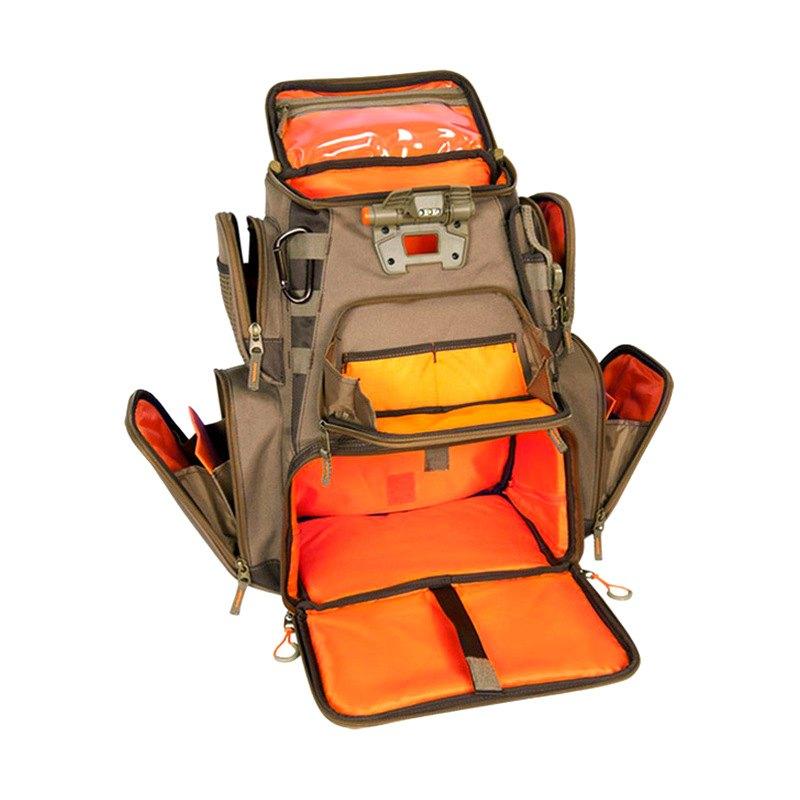 Wild river wn3604 nomad tackle bag lighted backpack for Fishing backpack tackle bag