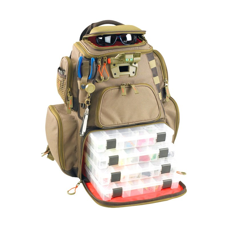 Wild river wt3604 nomad tackle bag lighted backpack for Fishing tackle bags
